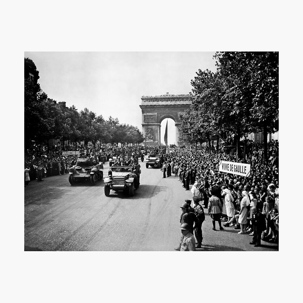 Liberation of Paris Parade - 1944 Photographic Print