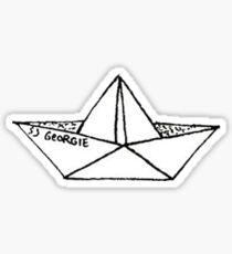 Pegatina Barco de origami