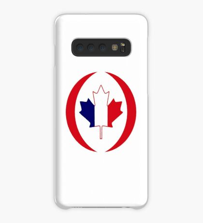 French Canadian Multinational Patriot Flag Series Case/Skin for Samsung Galaxy