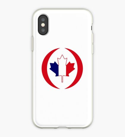 French Canadian Multinational Patriot Flag Series iPhone Case