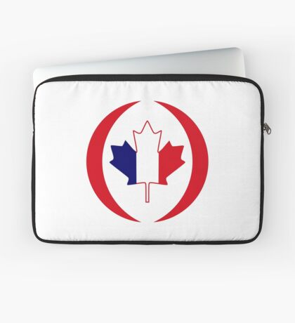 French Canadian Multinational Patriot Flag Series Laptop Sleeve
