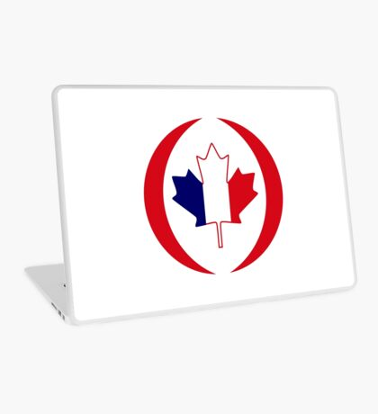 French Canadian Multinational Patriot Flag Series Laptop Skin