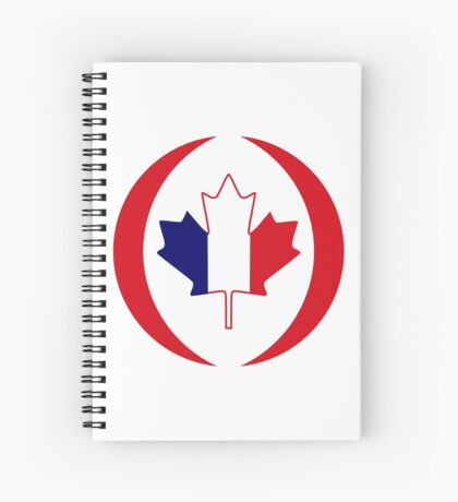 French Canadian Multinational Patriot Flag Series Spiral Notebook