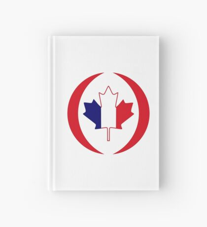 French Canadian Multinational Patriot Flag Series Hardcover Journal