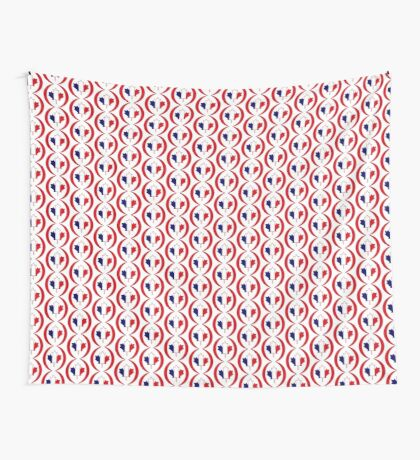 French Canadian Multinational Patriot Flag Series Wall Tapestry