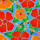 Hibiscus Batik Pattern by BluedarkArt