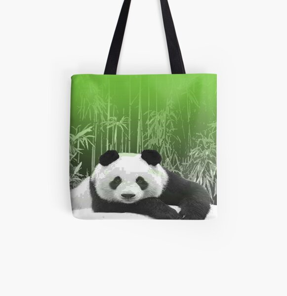Pana Panda 1 by Cecile Grace Charles All Over Print Tote Bag