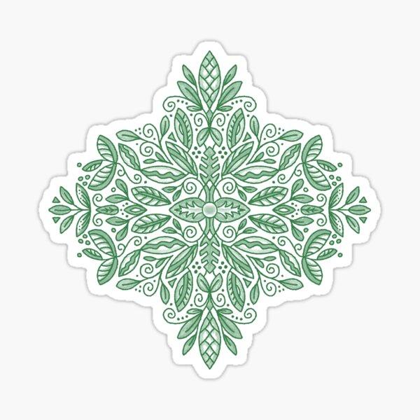 Green Leaves Medallion Sticker