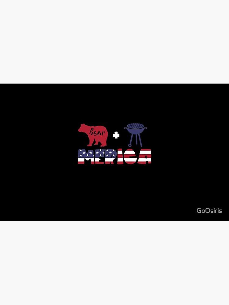 Funny Bear plus Barbeque Merica American Flag de GoOsiris
