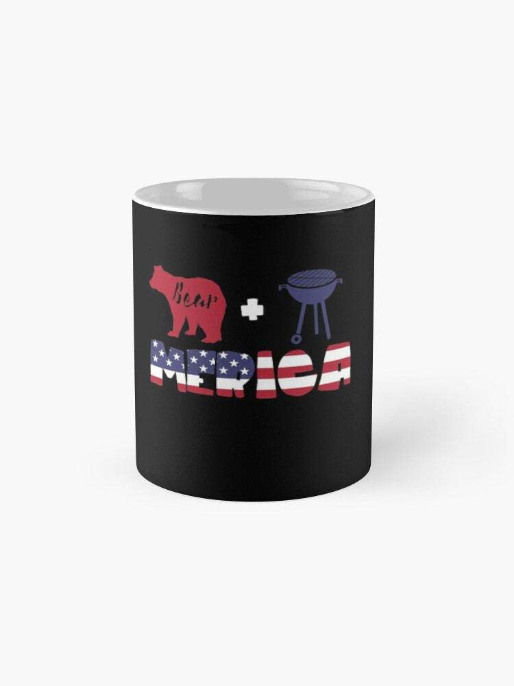 Vista alternativa de Taza Funny Bear plus Barbeque Merica American Flag