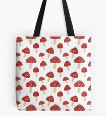 Mushroom Party Red and White Tote Bag