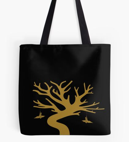 Medialia Gallery's Senbazuru Tree by The Ethyr (Gold) Tote Bag
