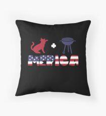 Cat plus Barbeque Merica American Flag Cojín de suelo