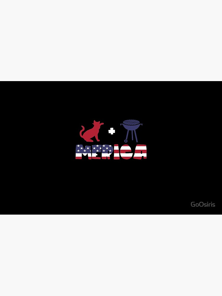 Cat plus Barbeque Merica American Flag de GoOsiris