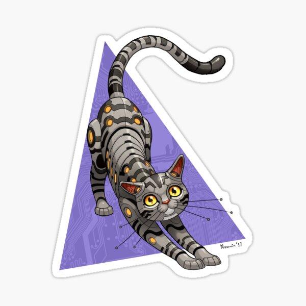 American Shorthair Robo-Cat Sticker