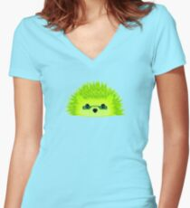 Vedgy, Broccoli Blades Women's Fitted V-Neck T-Shirt