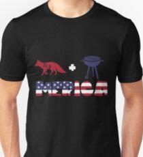 Foxplus Barbeque Merica American Flag Camiseta ajustada