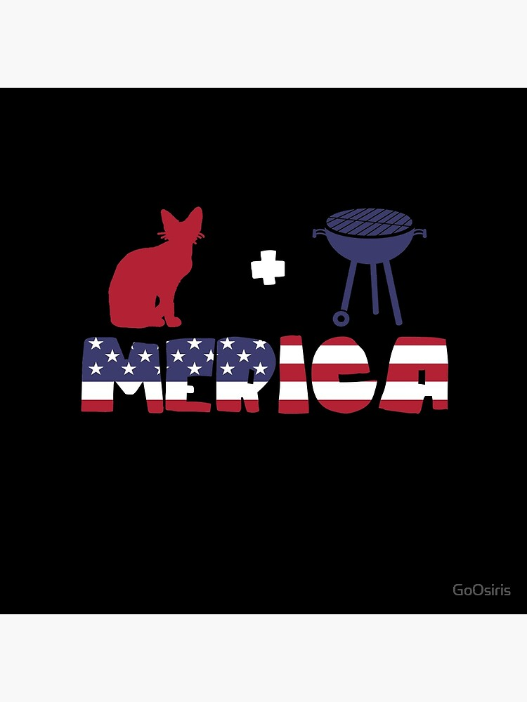 Awesome Cat plus Barbeque Merica American Flag de GoOsiris