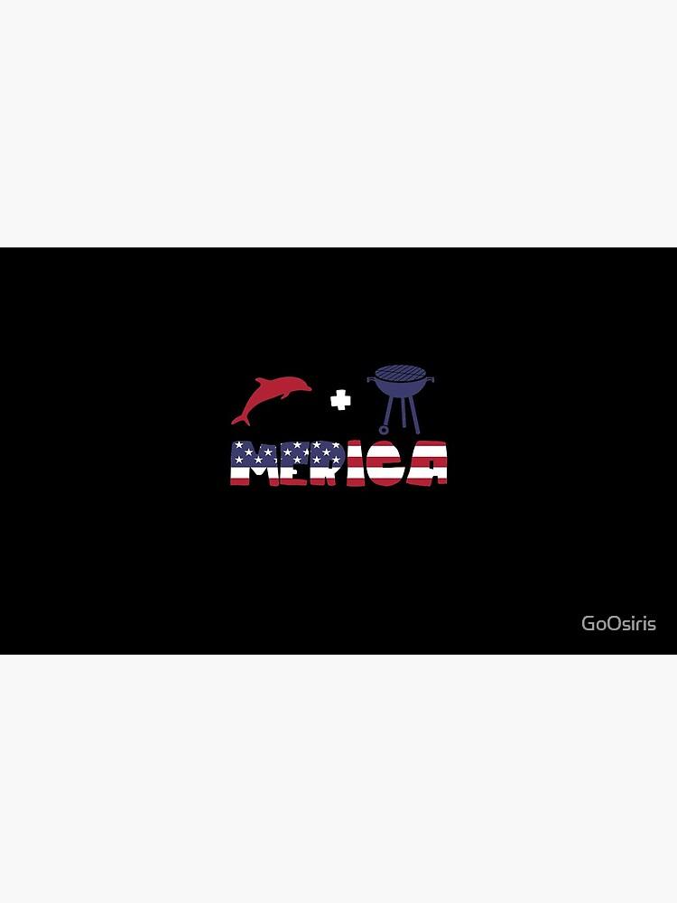 Funny Dolphin plus Barbeque Merica American Flag de GoOsiris