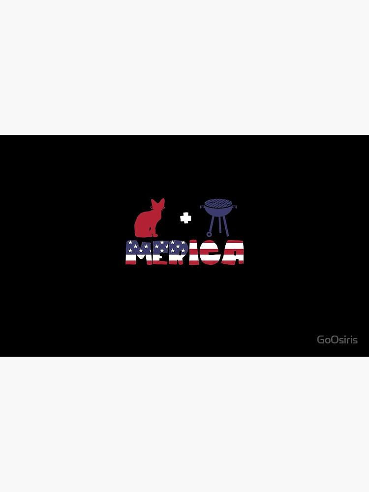 Awesome Cat plus Barbeque Merica American Flag de GoOsiris