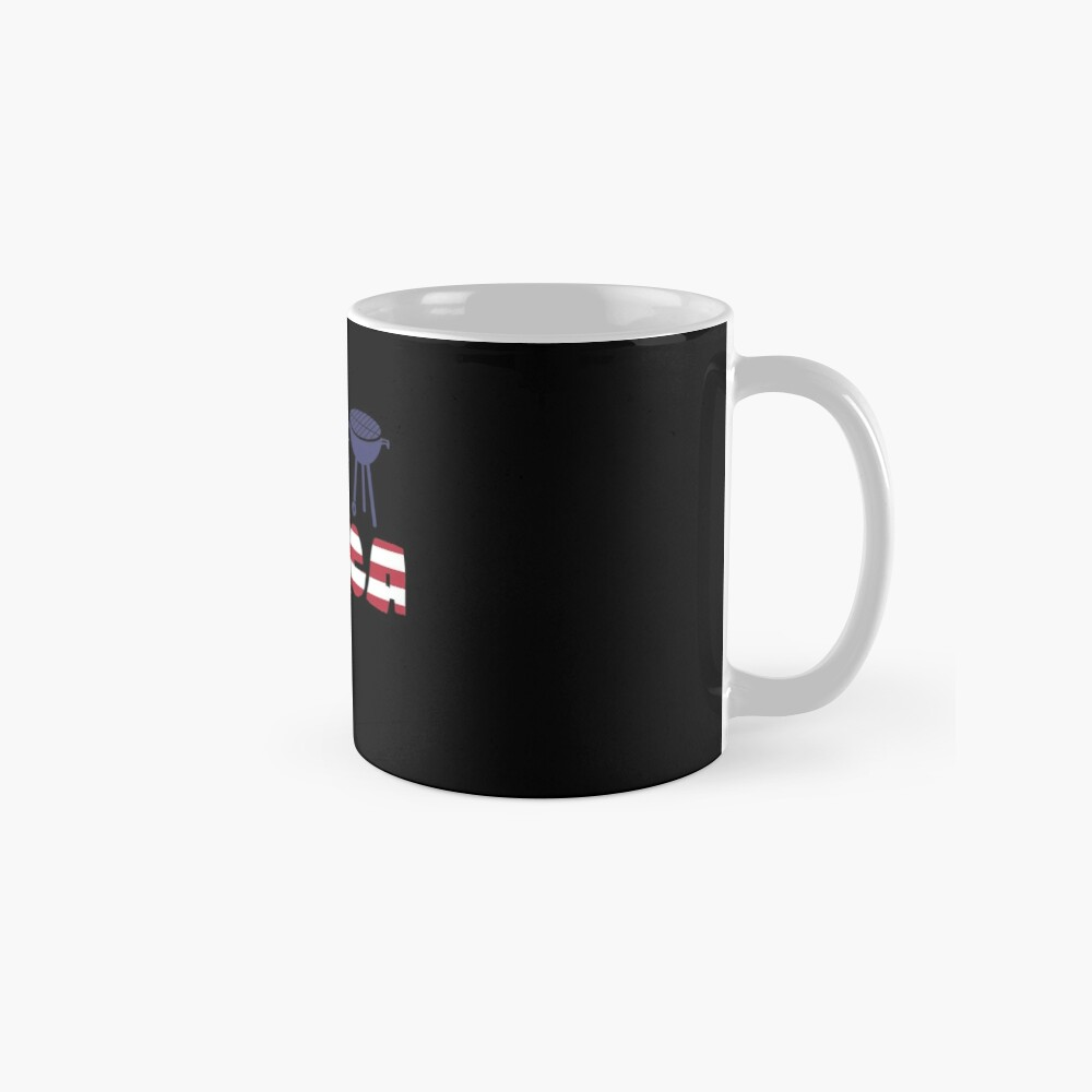 Awesome Cat plus Barbeque Merica American Flag Taza