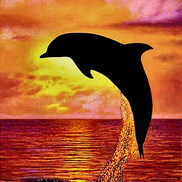 Dolphin in Silhouette by giovanniart