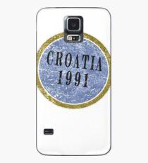 Weinlese-Kroatien-Unabhängigkeitstag Hülle & Klebefolie für Samsung Galaxy