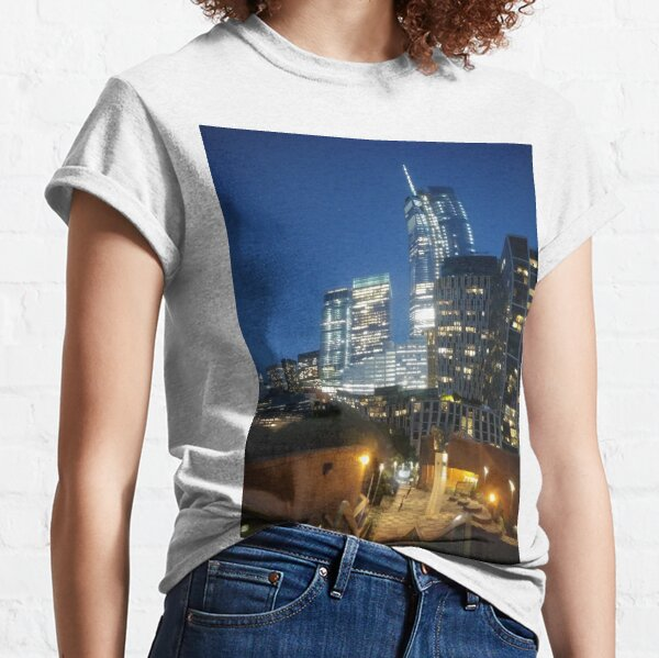 Manhattan, New York City, downtown, #Manhattan, #NewYorkCity, #downtown Classic T-Shirt