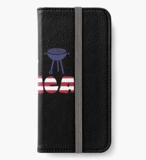 Awesome Eagle plus Barbeque Merica American Flag Vinilo o funda para iPhone