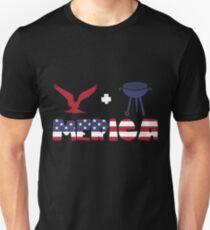 Awesome Eagle plus Barbeque Merica American Flag Camiseta ajustada