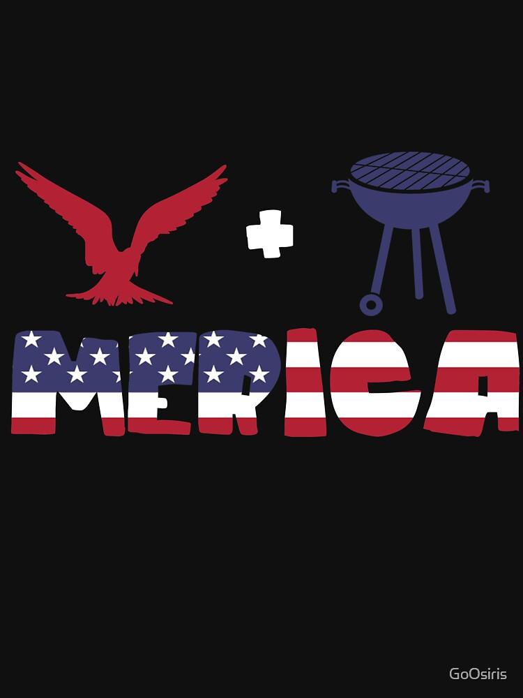Awesome Eagle plus Barbeque Merica American Flag de GoOsiris
