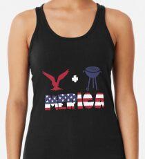 Awesome Eagle plus Barbeque Merica American Flag Camiseta con espalda nadadora