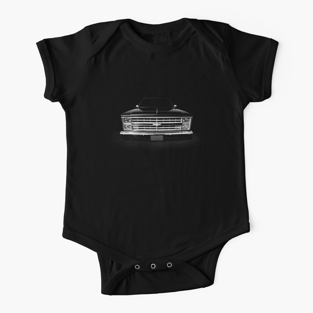 Chevy Silverado Square body pickup 1 - black Baby One-Piece