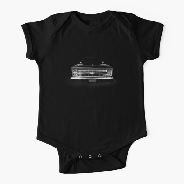 Chevy Silverado Square body pickup 1 - black Short Sleeve Baby One-Piece