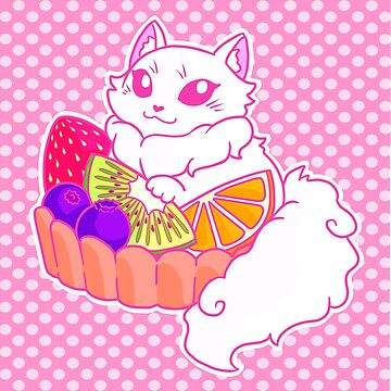 Cat Tart Fruit Tart by iKiska