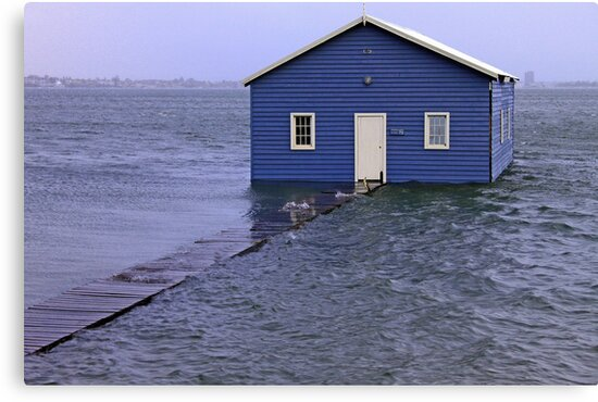 Storm Surge At Crawley Edge Boatshed  by EOS20