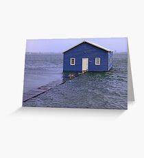 Storm Surge At Crawley Edge Boatshed  Greeting Card