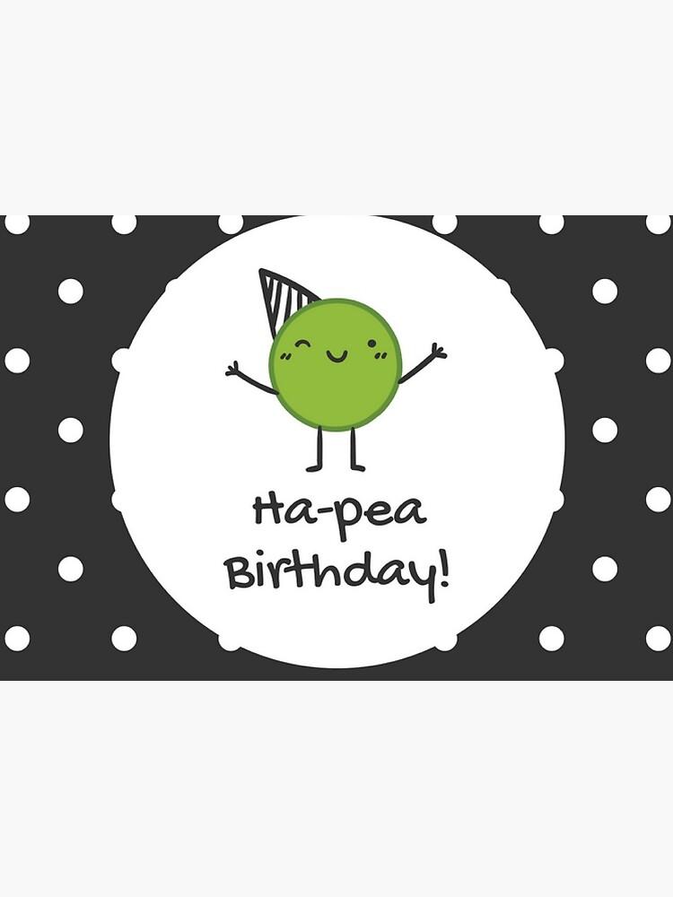 Cute Ha-Pea Birthday Polka Dot Card | Greeting Card
