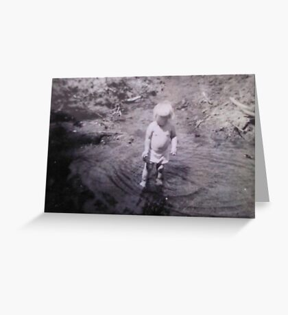Baby in a Creek Greeting Card