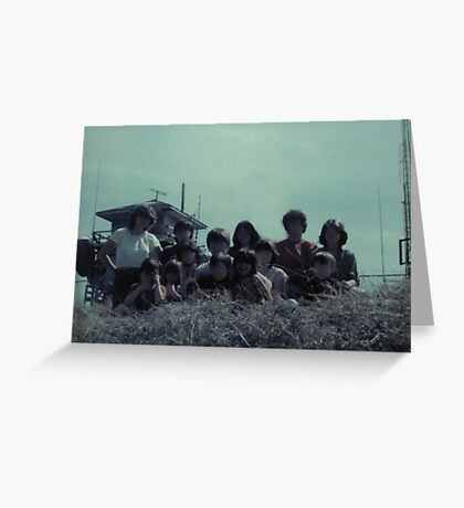 Family Hay Ride Greeting Card