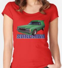 HZ Holden Sandman Panel Van - Super Mint Green Women's Fitted Scoop T-Shirt
