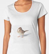 Song Sparrow--on Snow! Women's Premium T-Shirt