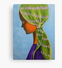 GIRL WITH A GREEN SCARF Canvas Print