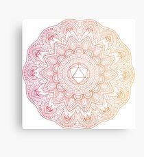 Odesza Symbol Mandala - Color Metal Print
