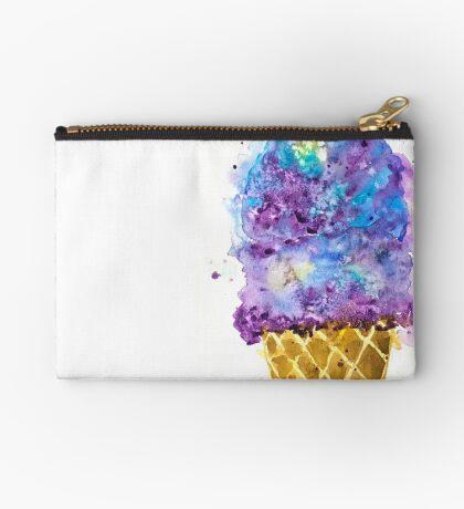 Purple Ice Cream Watercolor Studio Pouch
