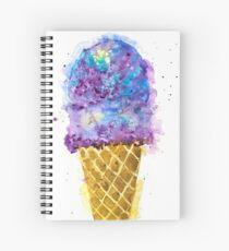 Purple Ice Cream Watercolor Spiral Notebook