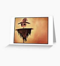 The Lonely Scarecrow Greeting Card