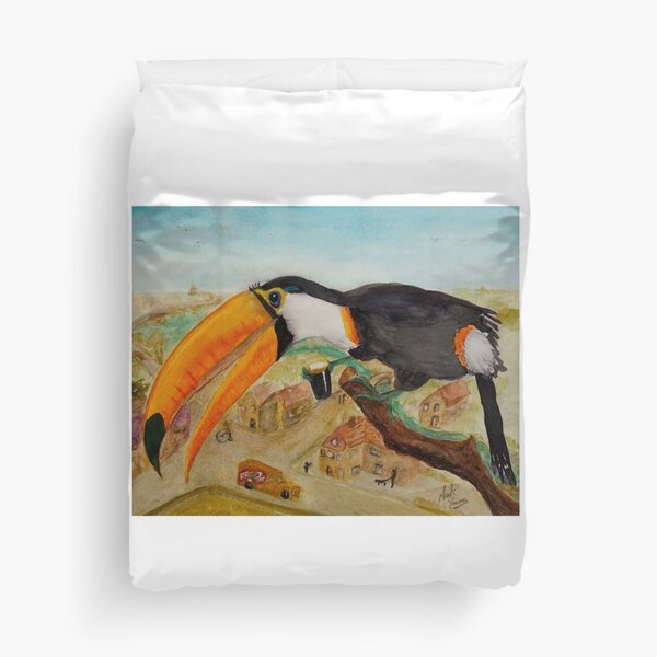 Olde Fashioned Toucan Duvet Cover