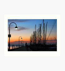 Dawn @ The Pier Art Print