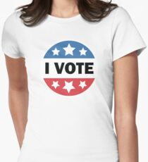 I Vote Women's Fitted T-Shirt